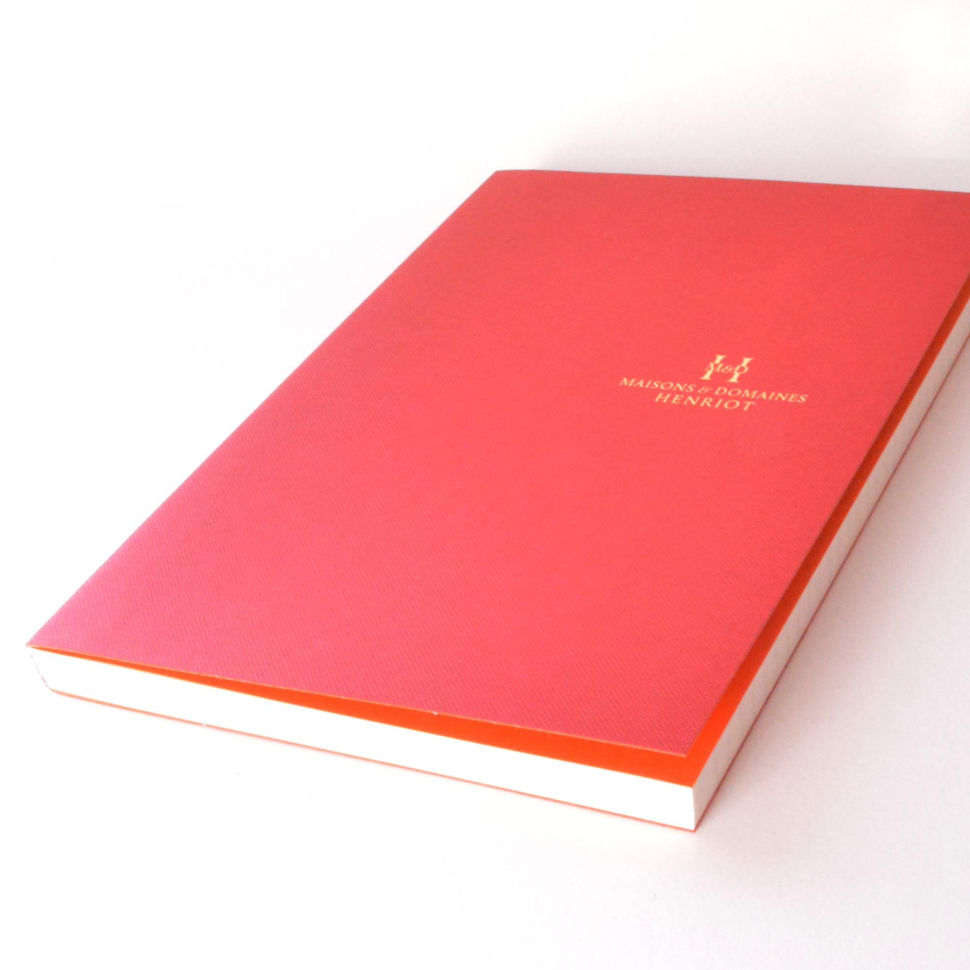 carnet avec page de garde - couverture papier imitlin tela